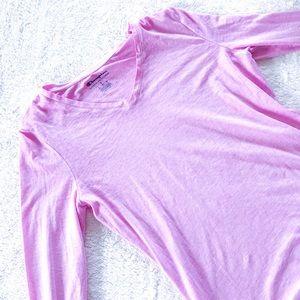 Champion V Neck Long Sleeve Pink Athleticwear